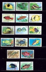 Bahamas 604-618A MNH 1986-87 Fish Definitive Set