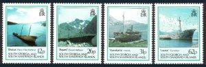 South Georgia 145-148, MNH. Shipwrecks, 1990