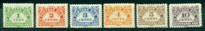 Newfoundland #J1-J6  Mint F-VF NH  Scott $78.75