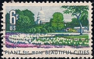 1365 6 cent Beautification, VF used