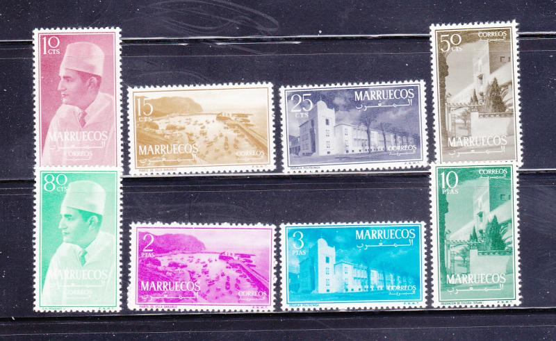 Morocco Northern Zone 1-8 Set MNH Various