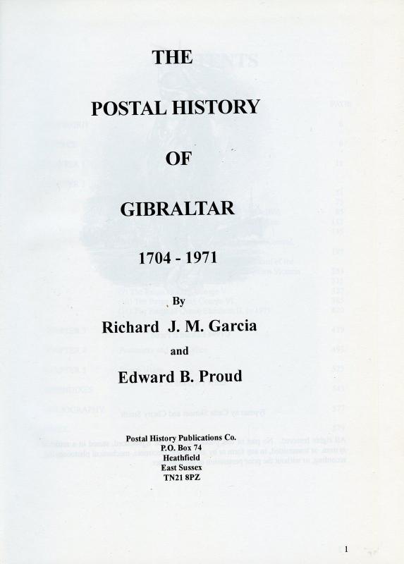 The Postal History Of Gibraltar por Edward B. Proud