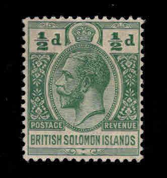British Solomon Islands Scott 28 MH* KGV