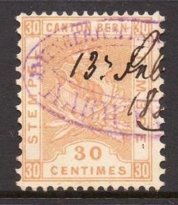Switzerland Bern Canton Early Issue Fine Used 30c. 081941
