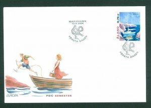 Aland. FDC 2004. Europe 2004. Holiday,Sail Boat . Scott# 224