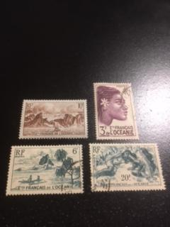 French Polynesia sc 160,171,174,177 MH+UH