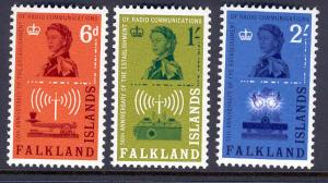 FALKLAND ISLANDS 143-5 MNH MORSE KEY