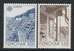 1987 Faroe Islands - Sc 156-7 - MNH VF - 2 single - Europa