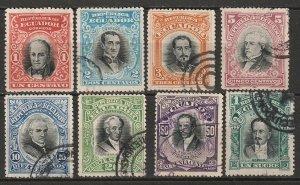 Ecuador 1907 Sc 166-73 set used