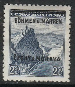 Stamp Germany Bohemia Czech Mi 015 Sc 015 1939 WW2 3rd Reich MNH
