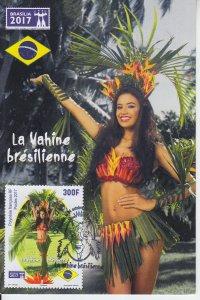 2017 Fr Polynesia Brasilia 2017 Hina Natua Maxi (Scott 1198) FDOI