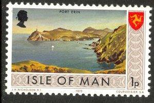 ISLE OF MAN 1973 1p Port Erin MATT GUM Pictorial Sc 13var MNH