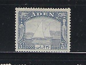 ADEN SCOTT #7 1937 DHOWS 3 1/2A (GRAY BLUE) - MINT LIGHT HINGED