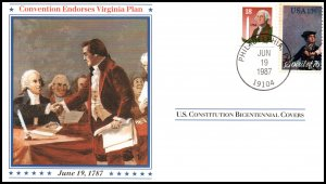 US Covention Endorses Virginia Plan Constitution Bicentennial 1987 Cover