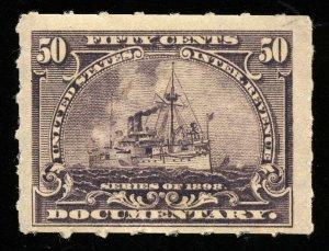 B269 U.S. Revenue Scott R171 50-cent Battleship mint OG hinged, SCV = $35