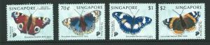 SINGAPORE SG999/1002 1999 BUTTERFLIES  MNH