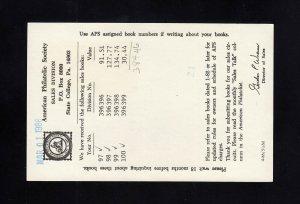 UXC23 33c Air Mail Postal Card USED to AUSTRALIA, Scott Cat $30.00