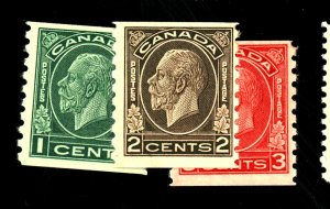 CANADA #205-7 MINT FVF OG 205 207 NH 206 LH Cat $81