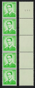 Belgium King Baudouin Roll Stamp 3.50Fr Normal paper no inscript SG#2188