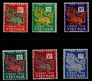 South Vietnam Scott J1-J6 Poage Due set MNH** tropical aged gum