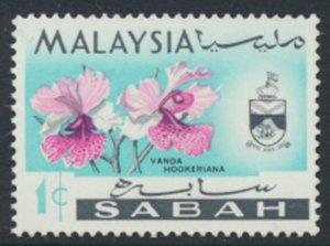 SABAH SG 424  SC# 17 MVLH* Flower  see scans /details