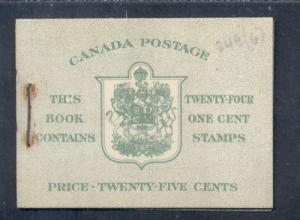 Canada 1942 Bk 32d English (249b x 4) cpl booklet mint NH