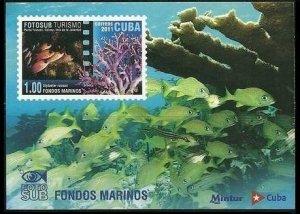 2011 Cuba 5543/B288 Sea fauna