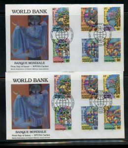 ADA BALCACER CACHETED WFUNA 1989 WORLD BANK TWO SET ON FIRST DAY COVERS