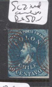 Chile SC 2 Lovely Red Cancel VFU (4dfu)