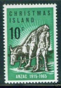 Christmas Island Scott 21 MNH** ANZAC stamp
