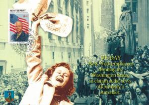 [96909] Montserrat 1998 World War II VE-Day Eisenhower First Day Card