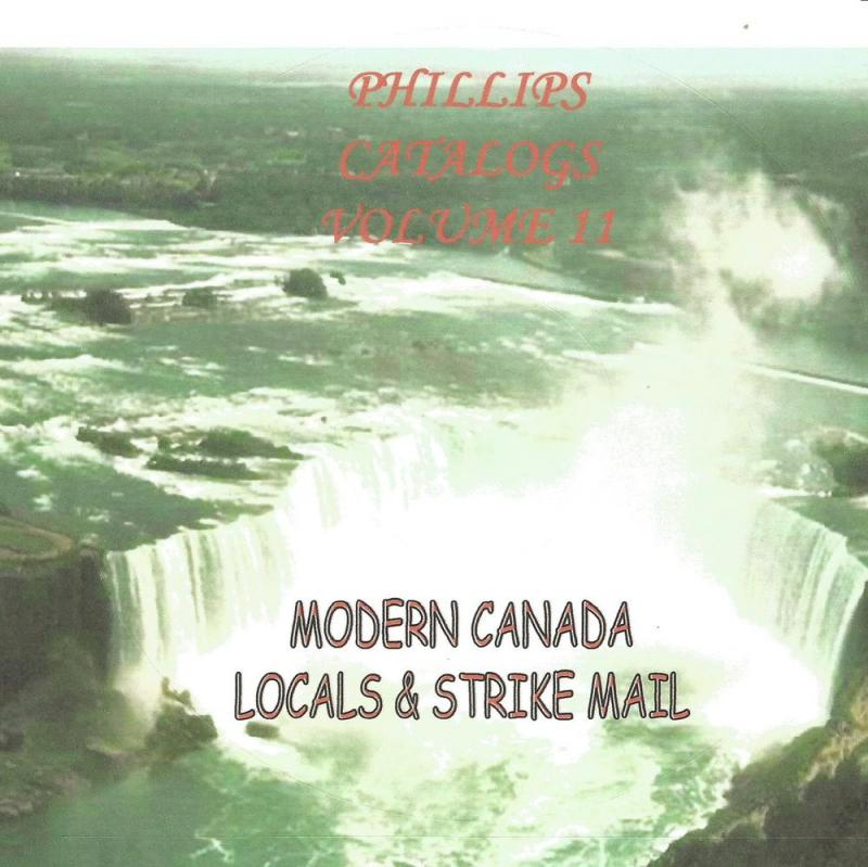 Modern Canada Local and Strike Mails - CD Catalogue - 2016