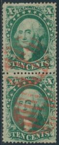 #33 VF USED PAIR WITH RED CANCEL CV $495 BR8983