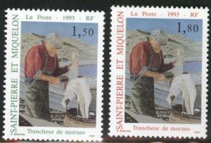 St. Pierre & Miquelon Scott 589-590 MNH** 1993 stamp set