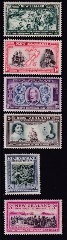 New Zealand 1940 KGVI Scenes Set Complete (13) in VF/Mint(*) condition