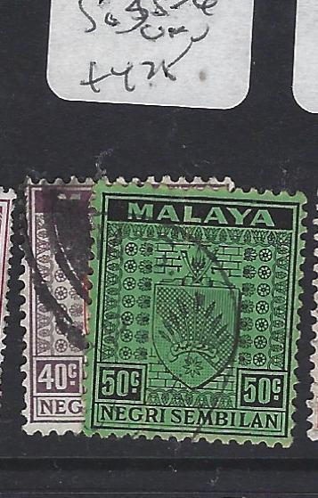 MALAYA  NEGRI SEMBILAN (P0609B) ARMS  40C, 50C  SG 35-6   VFU