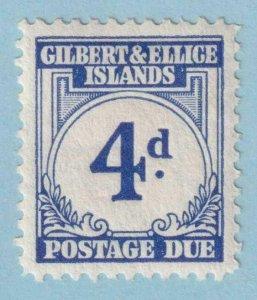 GILBERT & ELLICE ISLANDS J4 POSTAGE DUE  MINT HINGED OG * NO FAULTS EXTRA FINE!