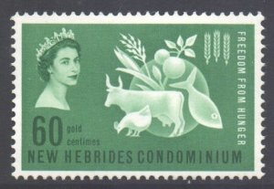 Vanuatu New Hebrides Scott 93 - SG95, 1963 Freedom from Hunger FFH 60c MNH**