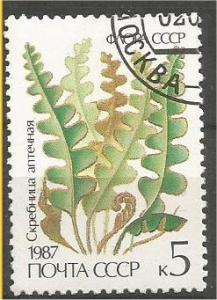RUSSIA, 1987, CTO 5k Ferns Scott 5573