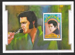 Gambia #1191 20d   History of the Blues-Elvis (MNH) CV $5.75