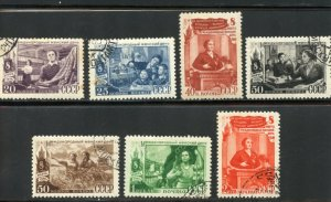 Russia Scott 1334-1340 - UVFNH(CTO) - #1336 is MVFNHOG - SCV $4.05