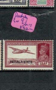 INDIA PATIALA (PP0305B)  KGVI  12A SG 91   MOG