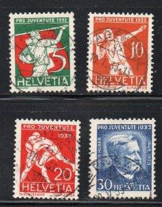 Switzerland Sc B61-64 1932  Pro Juventute Sports stamp set used