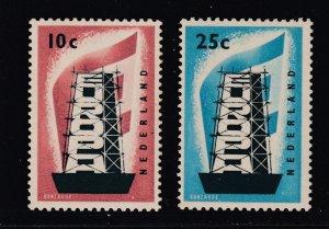 Netherlands the 1956 Europa pair MNH