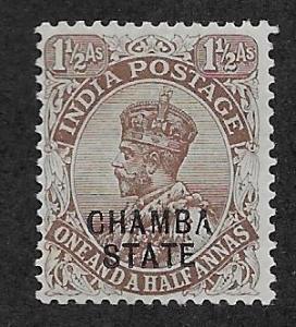 INDIA - CHAMBA  SC# 46  F/MOG 1922