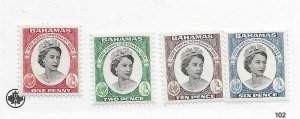 Bahamas #174-177 MH - Stamp