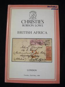 CHRISTIES LOWE AUCTION CATALOGUE 1984 BRITISH AFRICA