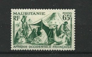 MAURITANIA  1938 - 40  65C  MYRTLE GREEN             MH