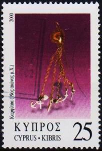 Cyprus. 2000 25c S.G.987 Fine Used