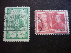 Stamps - Cuba - Scott# 394-395 - Used Set of 2 Stamps